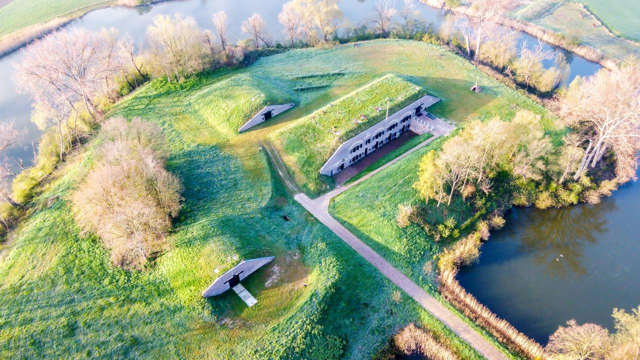 Luchtfoto van Fort Giessen