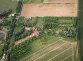 Luchtfoto van landgoed Clootwijck